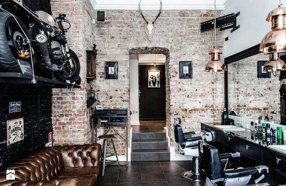 国外理发店装修